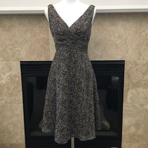 *SOLD* Tahari black & gray confetti chenille dress